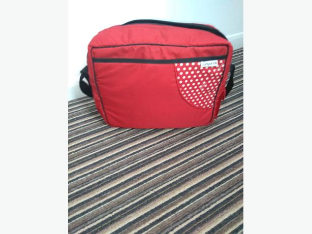 changing bag with foot muff, umbrella & changing mat