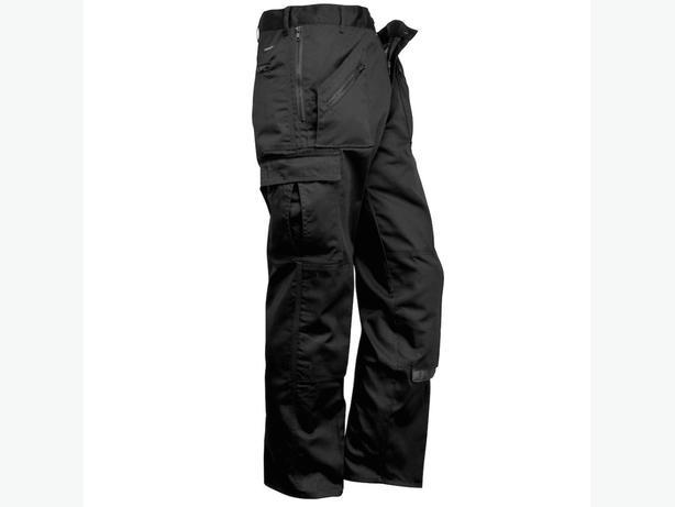 black multi pocket work trouser 33long
