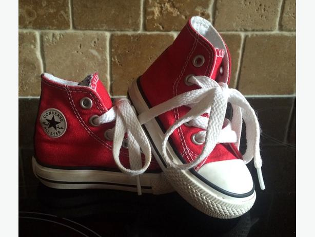 Converse Red Boots Infants Size 3