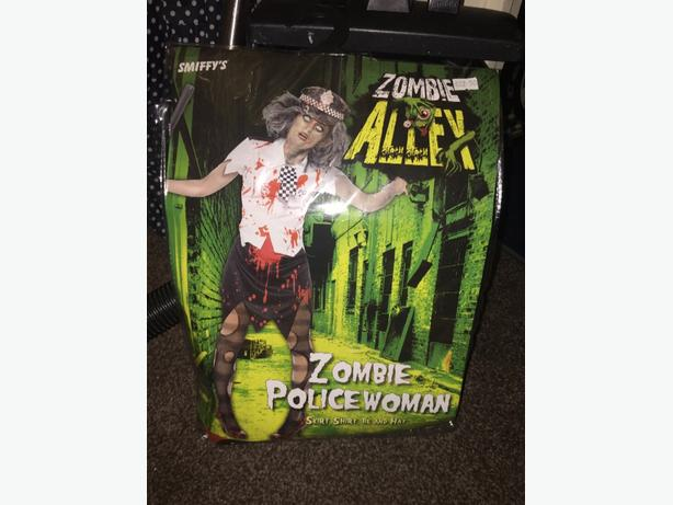 Zombie police woman costume