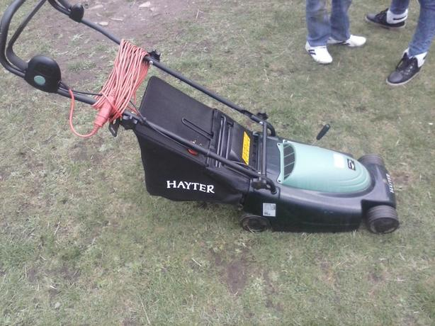 hayter electric lawn mower hardly used