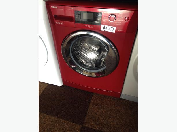 9KG RED BEKO WASHING MACHINE LCD DISPLAY