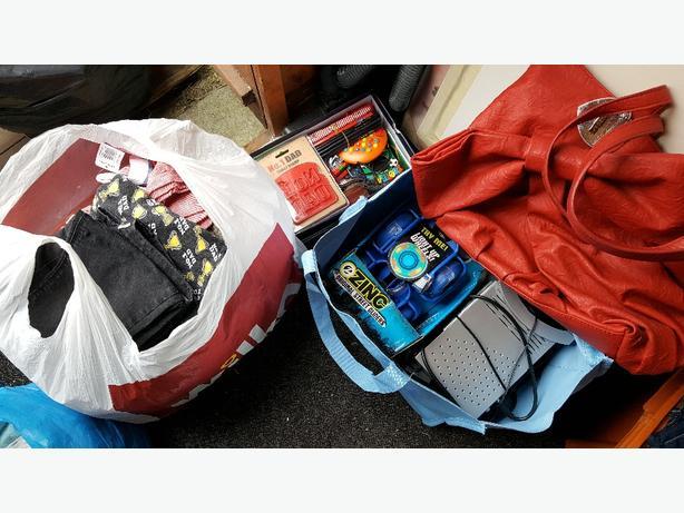 bundle of car boot items