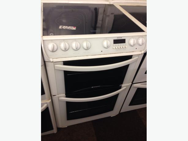 60CM HOTPOINT DOUBLE OVEN ELECTRIC COOKER057