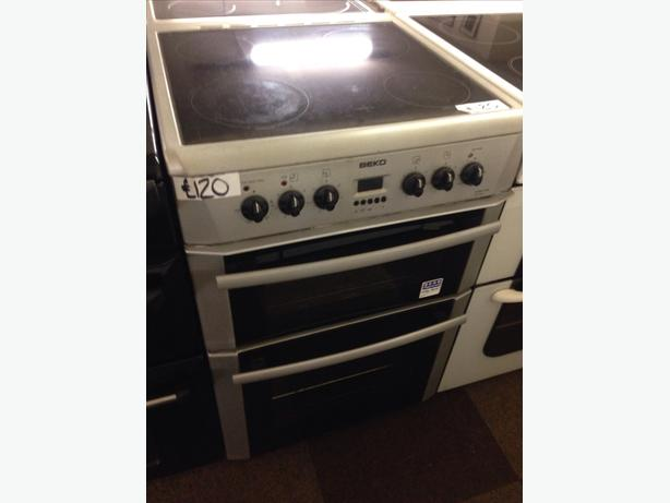 60CM BEKO DOUBLE OVEN ELECTRIC COOKER04