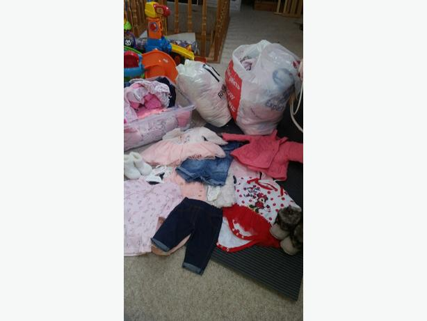 over 100 items baby girl clothes