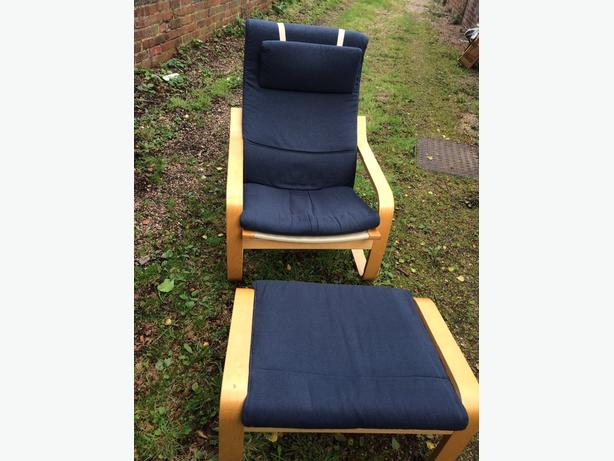 Ikea Easy Chair & Foot Stool
