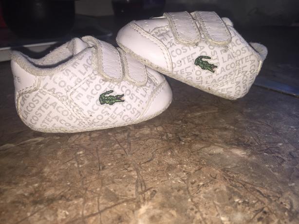 new born lacoste soft shoes