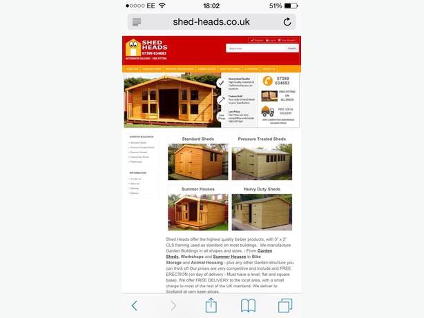sheds made order free installation 51kg torch on felt