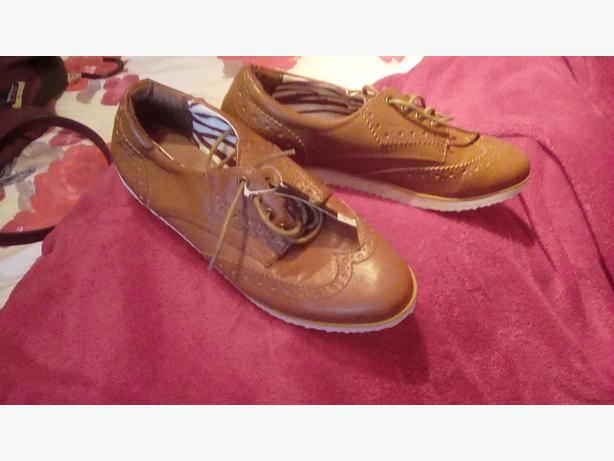 Pair of next flat shoes. Brogue style/laces. New. Size3.5