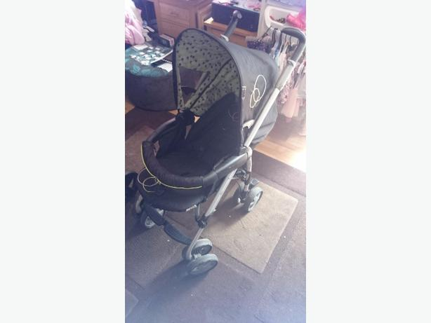 hauck pushchair with carrycot and changing bag