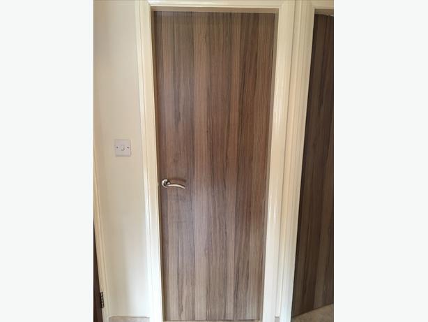 Walnut effect internal doors