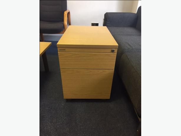 Paragon light oak effect 2 drawer pedestal