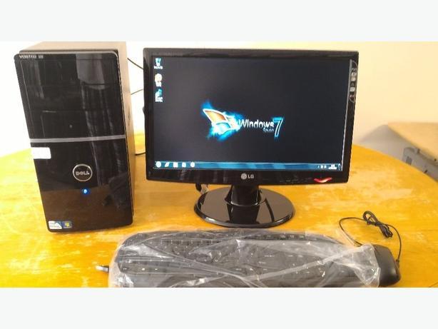 """SSD -Dell Vostro 220 MIDI TOWER Computer PC & 20"""" LG LCD"""
