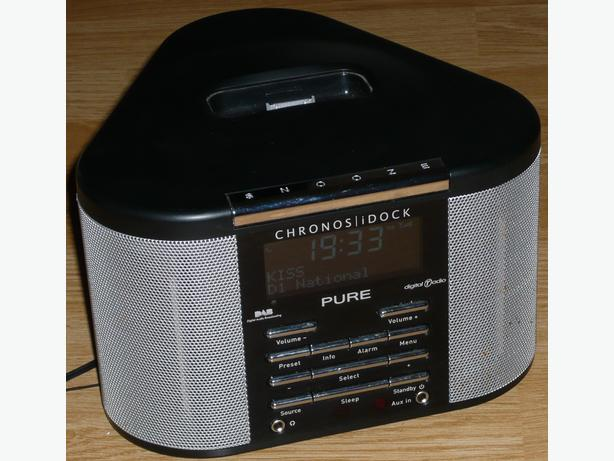 Pure Chronos DAB iDock (Black) Clock radio