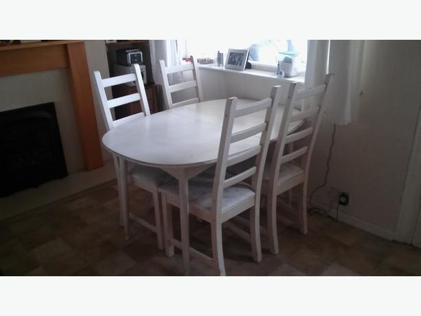 Dining room table and 4 chairs aldridge wolverhampton for Non traditional dining room chairs