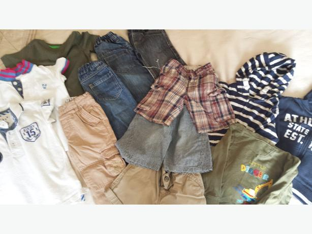 13 item bundle of boys clothes 12 to 18 months