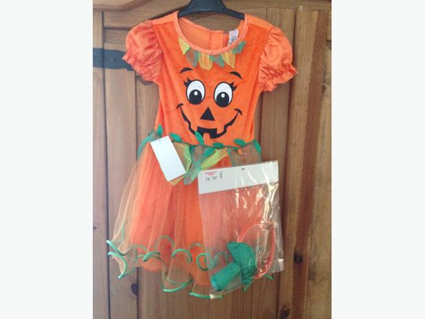 halloween costume pumpkin age 3 to 4 lights up