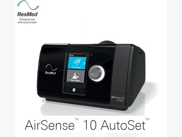 ResMed AirSense 10 AutoSet CPAP Machine With Airfit F10 Full Mask (Medium)
