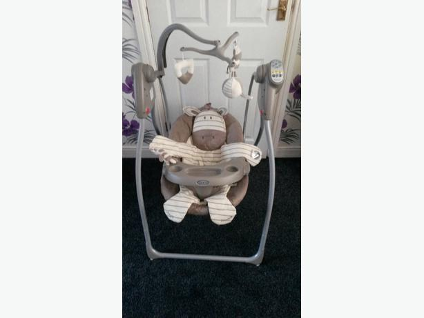 Graco Zebra Swing Chair not momma and pappas