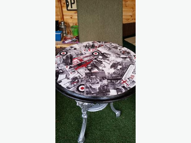 refurbished pub table