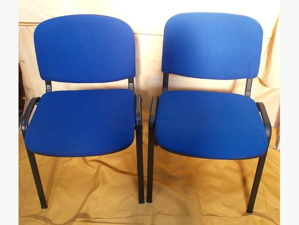 Blue Office Conference Meeting Stackable Chairs