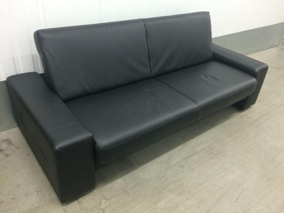 Faux leather sofa bed in excellent condition free for Sofa bed free delivery