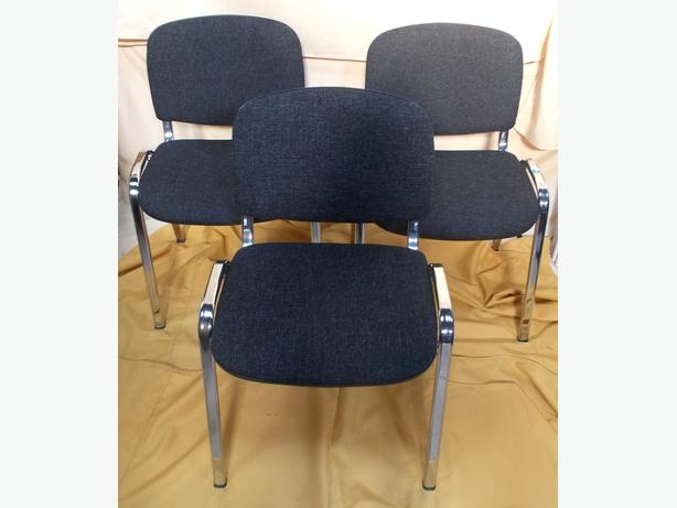 Set of 3 Stackable Office Conference Chairs
