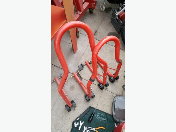 Motorbike Motorcycle Paddock Stands Front & Rear