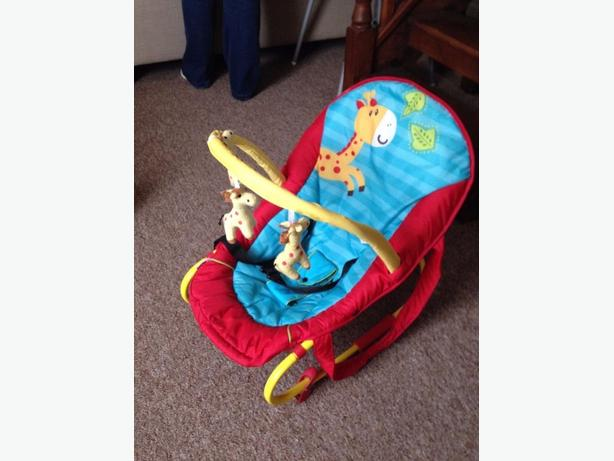 Giraffe baby swing and rock chair