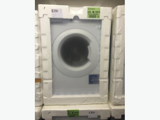 INDESIT WHITE WASHING MACHINE- NEW/BOXED/GRADED WITH MANUFACTURERS GUARANTEE