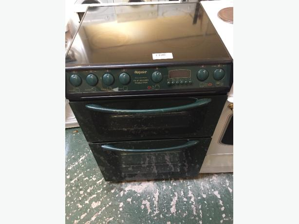 🍾hotpoint 60cm green cooker free delivery