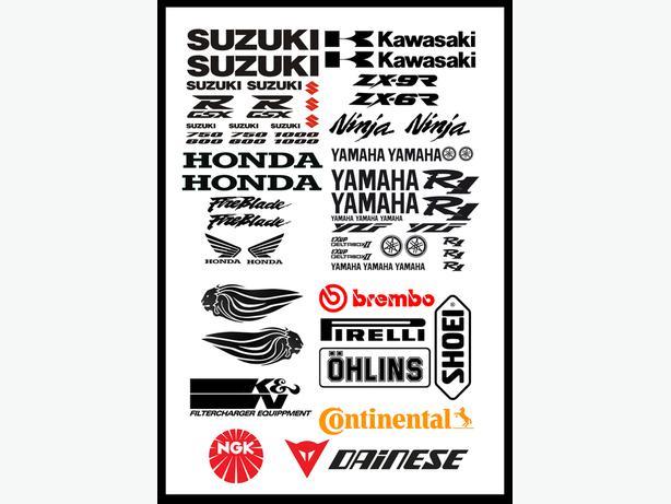 Motorbike Sticker Packs Suzuki Yamaha Aprilia Kawazaki