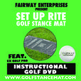 Golf Stance Practice Mat & Tutorial DVD