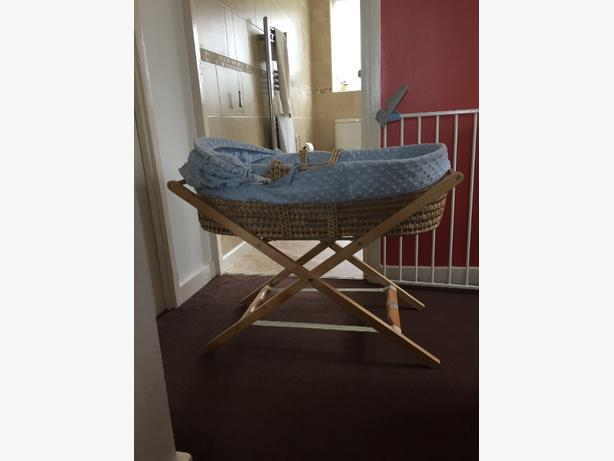 Boys moses basket