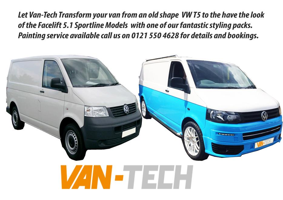 vw transporter t5 to t5 1 facelift conversion inc parts. Black Bedroom Furniture Sets. Home Design Ideas