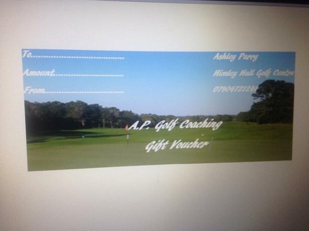 golfing gift voucher