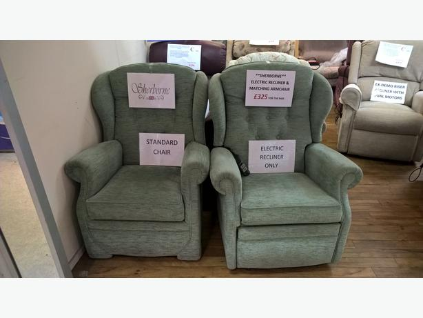 Sherborne Electric Recliner Chair & Matching Armchair