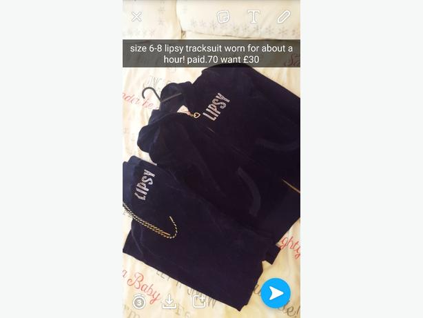 Lipsy tracksuit for sale excellent condition size 6-8
