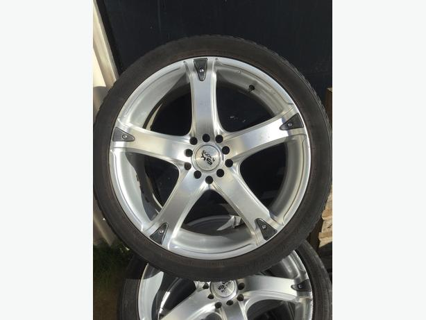 18 INCH BK RACING ALLOYS 225 40 18 TYRES 5 STUD MULTI FIT
