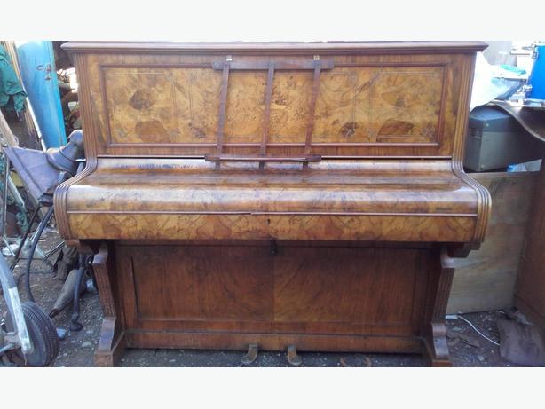 Victorian walnut framed piano