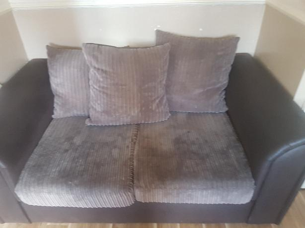 brown 2seater settee