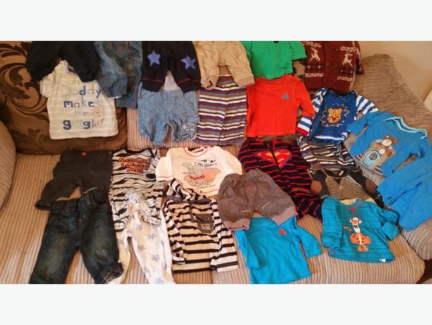 bundle boys clothes 0-6 months