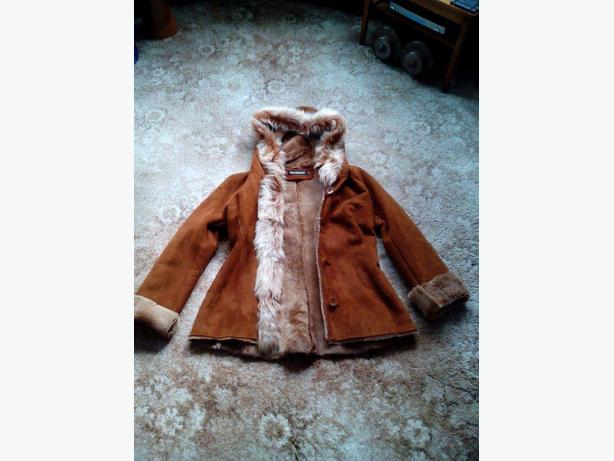 sheepskin kind leather coat