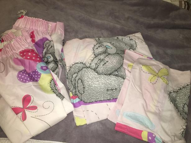 Tatty teddy duvet set&curtains