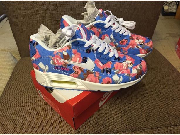 Girls Flower Air Max 90's
