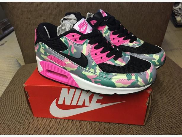 Girls Camo Air Max 90's