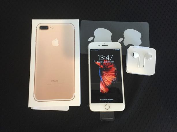 IPhone 7+ Gold In Box Like Neww!! 128G