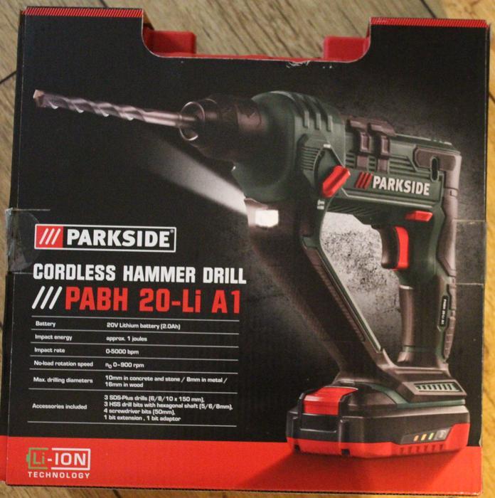 Cordless hammer drill 20v parkside new in box halesowen - Batterie parkside 20v ...