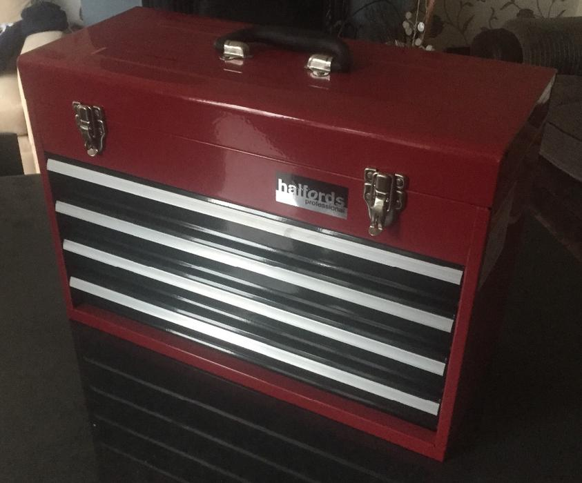 halfords professuonal 4 drawer tool chest beand new. Black Bedroom Furniture Sets. Home Design Ideas